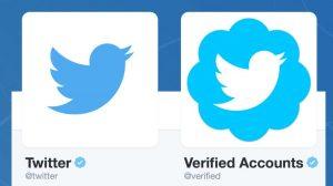 Twitter's blue badge/ verified account